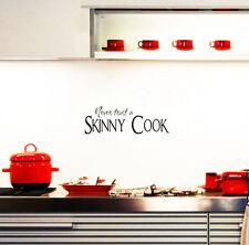 Never Trust A Skinny Cook Wall Sticker Vinyl Art Home Wall Decor Kitchen Decal