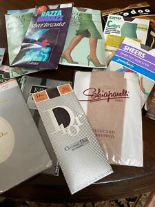 Vintage Pantyhose Including Designer x 15 Pairs Mainly Size Talls