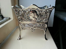 WMF Art Nouveau Jugendstil Silver Plated Sugar Basket Jardiniere ca.1900 Germany