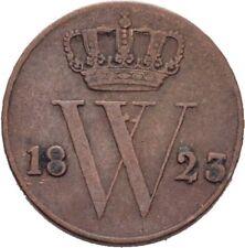 Niederlande 1/2 Cent 1823 Wilhelm  2 g Kupfer  #SAW160