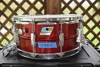 Vintage Ludwig Candy Apple Red Super Sensitive Snare Drum LOOOOOOOK!!!!!!!!!!!!!