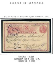 Guatemala: 1890; Postal Stationery used, Guatemala to Berlin EBG090