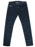 Diesel Mens Slim Fit Lyocell Stretch Denim Jeans Dark Blue  Thavar XP R8LC4