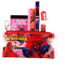Superhero Spiderman Pencil Case Kids School Supplies Boys Stationery Rubber Set