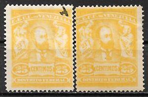 1905 VENEZUELA MLH + USED STAMPS (Michel # 85b) CV €5.50