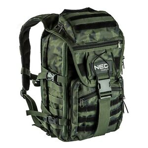 🆒NEO TOOLS CAMO Rucksack Technician Robust Backpack Bag Tools Heavy Duty 84-321