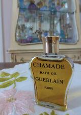 Vtg 1970s Guerlain Chamade Perfumed Bath Oil Splash 0.50 Oz 15ml Lyre Bottle