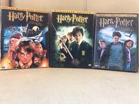 Harry Potter 1-3 DVD Lot Sorcerer's Stone Chamber of Secrets Prisoner of Azkaban
