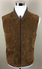 Vintage Polo Ralph Lauren Men's Genuine Leather Suede Zip Up Vest Small/Medium