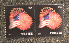 2014USA #4868 Forever Star Spangled Banner (SSP) Coil Pair  Mint  NH  flag 2