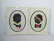 Pictures Silhouette Prints Young Girls The Toy Tinkers Vtg 1941 Tinkertoys 2pc