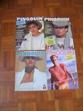 LOT de 4 catalogues tricot PINGOUIN - n° 26-35-56-95 - Années 70, 80 et 90