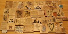 Christmas Religious Rubber Stamps