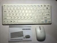 White Wireless MINI Keyboard & Mouse for Apple Mac Mini A1347 Model 1.4 EMC 2804