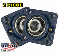 "UCF206-20 Pillow Block Flange Bearing 1-1/4"" Bore 4 Bolt Solid Base (2PCS)"