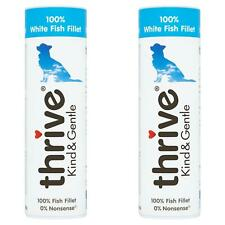2 x Thrive Kind & Gentle 100% White Fish Dog Treats Tube Natural Real Meat - 15g