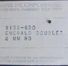 Vintage NOS Emerald Doublet 2 mm Round Cut Loose Gemstone Jewelry Mount Gem NWT