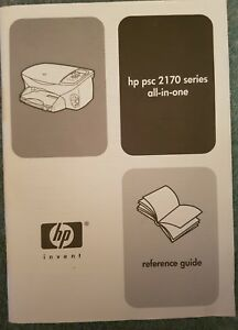 HP PSC 2170 Series All-In-One Printer REFERENCE GUIDE ONLY