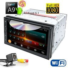 "7"" Android 5.1 Double DIN Sat Nav Car GPS Stereo Bluetooth Radio WiFi 4G+CAMERA"