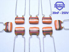 Mullard Tropical Fish Capacitors  39nF - 250V  x 150 Pieces