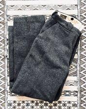 1930's L.L. Bean Vtg Grey Thick Wool Hunting Pants Trousers Usa Black Gold Logo