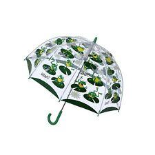 "Bugzz Soake Kids Frog Green Boys Children Manual Opening PVC Stick 32"" Umbrella"