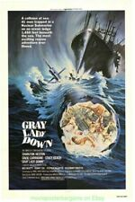 GRAY LADY DOWN MOVIE POSTER Folded 27x41 NUCLEAR SUBMARINE 1978 FILM