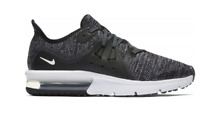 NIKE Air Max Sequent 3 Junior Boys Trainers Black/White Size UK 6US6.5Y*REFCRS62