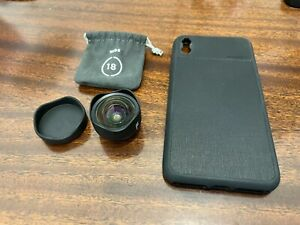 Moment 18mm wide lens and case for iPhone XS Max