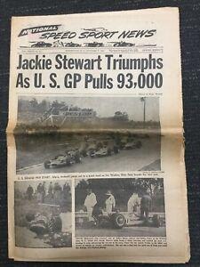 1968 - Jackie Stewart - Formula One - NASCAR - USAC - INDYCAR - Speed Sport News