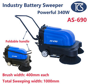 NEW TCS Commercial Battery Powered Floor Sweeper Machine - Walk Behind