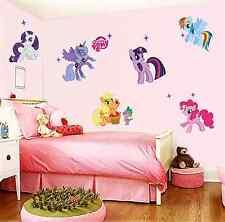 3D My Little Pony Decal WALL STICKER Vinyl Mural Kids Room Decor UK