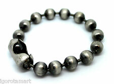Style vintage argent acier boule de perles rock gothique shamballa bracelet homme
