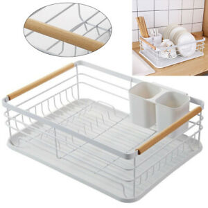 Kitchen Dish Drainer Dry Rack Plate Bowl Cutlery Sink Holder Storage Dryer Tray