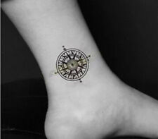 Compass Black Henna Star Temporary Tattoo Fake Transfer Sticker Art Body Sticker