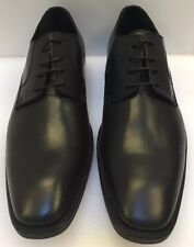 Donald J Pliner Men 10.5 Borak 06 Oxford Plain Toe Black Leather Italy Made NIB