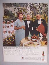 Restaurant de la Pyramide in Vienne PRINT AD - 1965 ~~ Canadian Club Whiskey