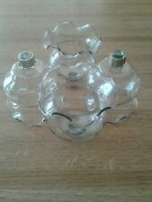 Four Home Interior Clear Fluted Votive Cups With Grommets