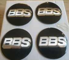 4 X 65mm BBS Alloy Wheel Centre Cap Badges Carbon Fibre Effect Badges UK  Seller