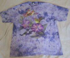 New listing vintage 90s Polar Graphics AMAZING Hummer Time Tie Dye T-Shirt Hummingbirds XXL