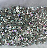 Swarovski crystals AB - flat back stones gems charms for nail art x 150 pcs HOT