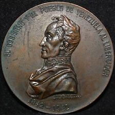 VENEZUELA SIMON BOLIVAR*RARE* MEDAL 1942 GREAT CONDITION
