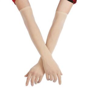1 Pair Women Mesh Transparent  Pantyhose Gloves Long Full Finger Mittens Party
