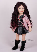 Karito kids dolls 20'' Outfit boots, top, cardigan, black skirt