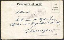 PRISONERS OF WAR POSTSTUK DOUGLAS 30 SEPT.1917 - OFFICIER VAN GEZONDHEID  Zj378