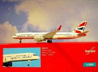 Herpa Wings 1:500  Boeing 757-200 British Airways F-HAVN 530019 Modellairport500
