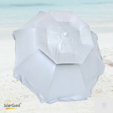 6 ft SolarGuard Deluxe Dual Canopy Beach Umbrella UPF 150+ Ultra Cool Heavy Duty
