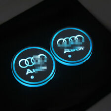 2x LED Car Cup Holder Lights Interior USB Atmosphere Lamp audi styling s3 a3 a4