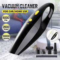 6000Pa 120W Handheld Car/Home Cordless Vacuum Cleaner Portable Wet Dry Cleaning