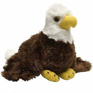 """HUG'EMS MINI EAGLE PLUSH SOFT TOY 7"""" STUFFED ANIMAL BY WILD REPUBLIC - BNWT"""